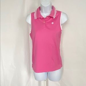 Lilly Pulitzer Sz S Pink /White Trim Polo Top